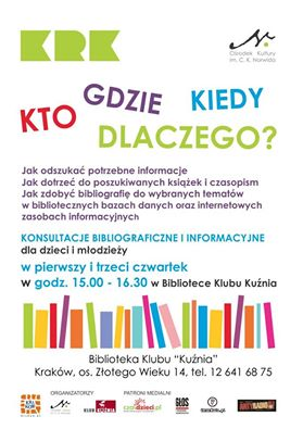Konsultacje bibliograficzne i informacyjne dla dzieci i młodzieży