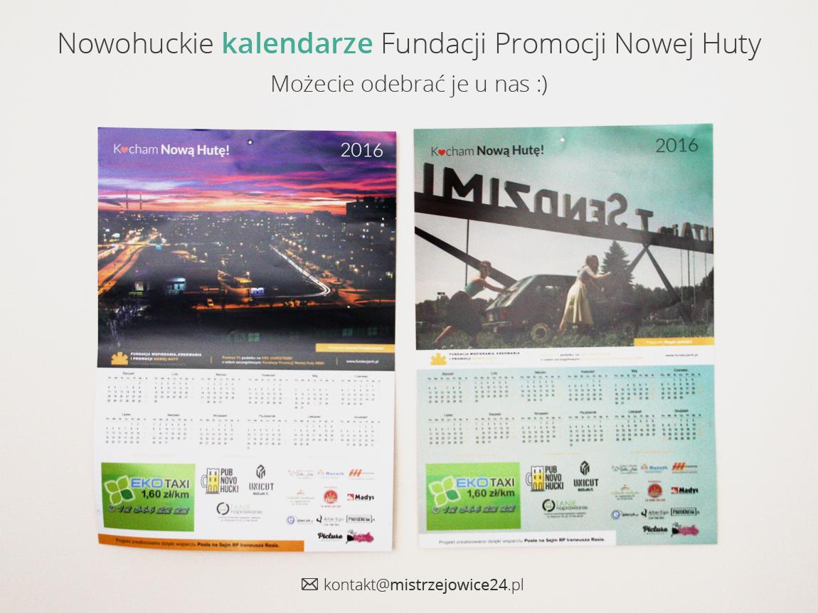 Bezpłatne nowohuckie kalendarze
