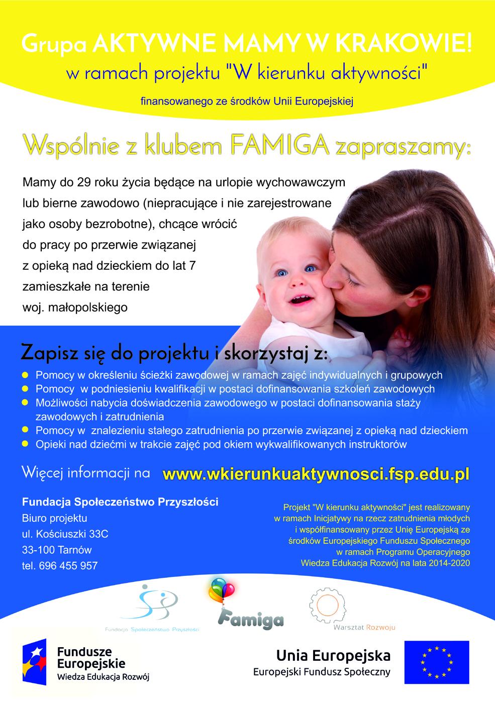 """""""Aktywne mamy w Krakowie"""" w ramach projektu """"W kierunku aktywności"""""""