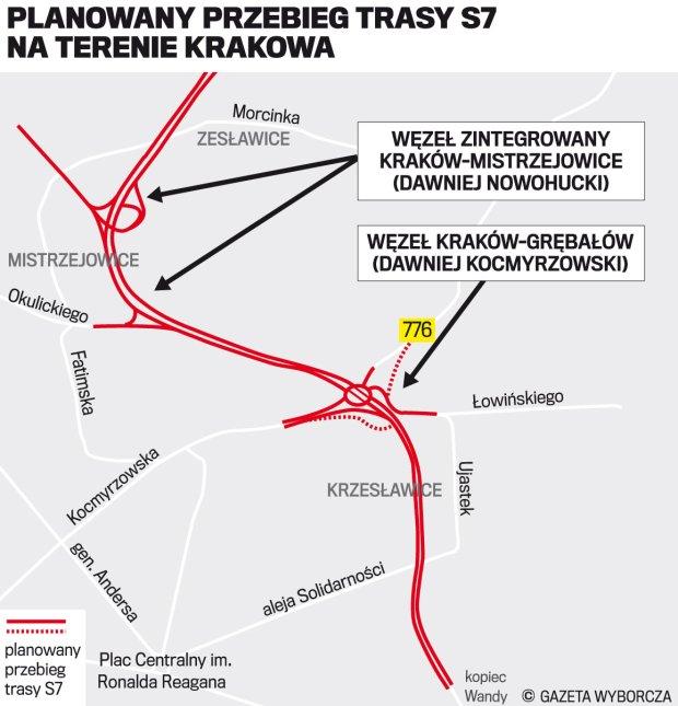 z20209411Q,Przebieg-trasy-S7-w-obrebie-Krakowa