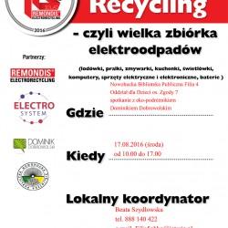 Zbiórka elektroodpadów w Nowohuckiej Bibliotece Publicznej (os. Zgody)