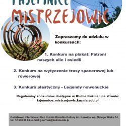 Tajemnice Mistrzejowic - konkursy!