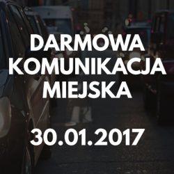 Darmowa komunikacja miejska 30 stycznia (poniedziałek)