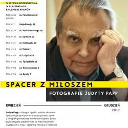 """""""Spacer z Miłoszem. Fotografie Judyty Papp"""" - wystawa w Bibliotece Kraków"""