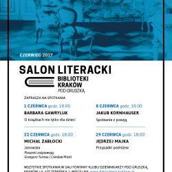 """Czerwcowy Salon Literacki Biblioteki Kraków """"Pod Gruszką"""""""