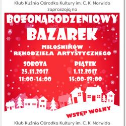 Bożonarodzeniowy Bazarek Miłośników Rękodzieła Artystycznego