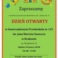 Dzień Otwarty w Samorządowym Przedszkolu nr 125