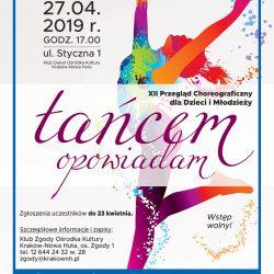 XII Przegląd choreograficzny dla dzieci i młodzieży Tańcem opowiadam