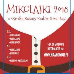 Spotkania ze Świętym Mikołajem w Klubach Ośrodka Kultury Kraków-Nowa Huta